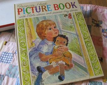 Frances Hook Picture Book a Beautiful Large Vintage 1963 Bible Story Book