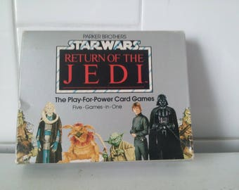 "Vintage Star Wars Return of the Jedi 1983 Parker Brothers ""The Play-for-Power Card Games"" Five Games-in-One Sealed Never Used"