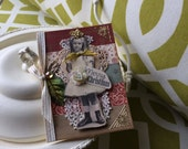 Handmade Christmas Card - Merry Christmas Card - Vintage Girl Card