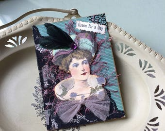 Vintage Lady Card - Birthday Card - Queen for a Day Card - Mom Birthday - Grandma Birthday Card