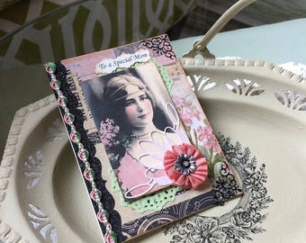 Vintage-style Card for Mom - Victorian Mom Birthday - Best Mothers Day Cards