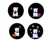 West Highland Terrier  Magnets: Special Order for Westie Rescue
