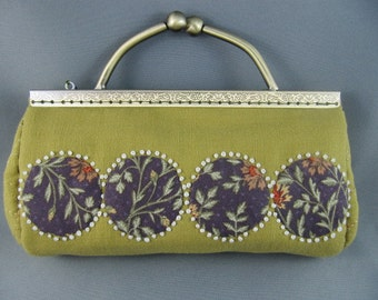 SOLD Handstitched Japanese Style Clutch Purse