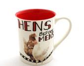 Feminist mug - girl power - hens before mens - sisters before misters - friendship gift - funny mug