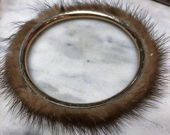 Vintage Mink Bangle Bracelet