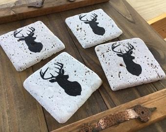 Deer Head Silhouette Coasters