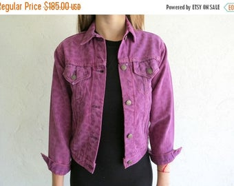 35% OFF SPRING SALE The Levi's Leopard Print Lasered Fuschia Dyed Denim Jacket
