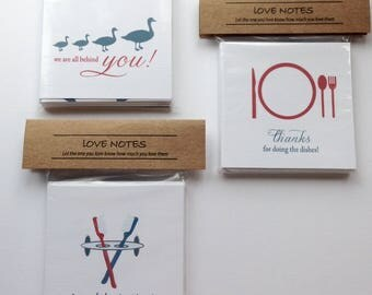 Small Love Card, Love Note, Appreciation Cards, Adult Lunch Box Love Notes