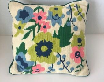 1960s handmade flowers Pillow.