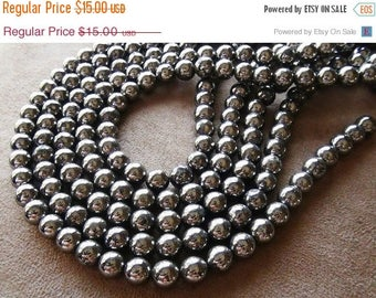 SALE Pyrite smooth round beads