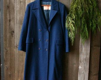 Pendleton Coat Full Length Pure Virgin Wool Cobalt Blue Wool Rain Coat Vintage From Nowvintage on Etsy