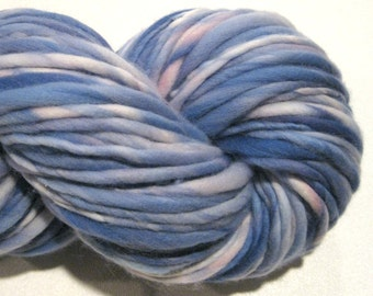 Handspun Yarn, Dreamy 142 yards, hand dyed merino wool, periwinkle yarn, blue yarn  waldorf doll hair, knitting supplies,crochet