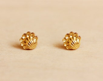 Shell Studs - Gold or Silver