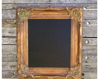 Framed Chalkboard - Kitchen Chalkboard - Chalkboard - Shabby PIcture Frame - Wedding Chalkboard - Ornate Picture Frame - Gold Picture Frame