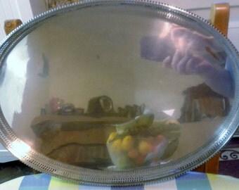 Tea Tray - Vintage Silver Plate Tea Serving Tray