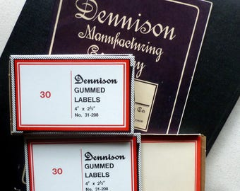 Box Vintage Dennison Labels