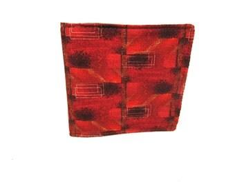 Men's Contemporary Fabric Billfold / Washable / 9 Pockets