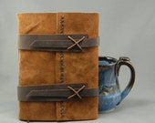 Black Friday Sale Handmade Leather Journal with Parchment Paper