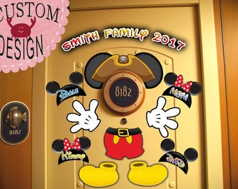 Pirate Mickey Body Personalized Disney Cruise Door Magnets - Use as Disney Cruise Door Decorations and Clip Art