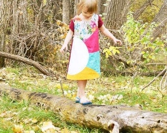 Helios Girls Dress PDF Sewing Pattern- sizes 12 months - 12 years