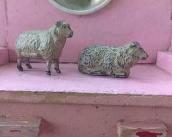 Two  Vintage Lead Sheep