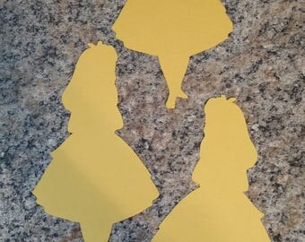Alice in Wonderland Cardstock Cutouts