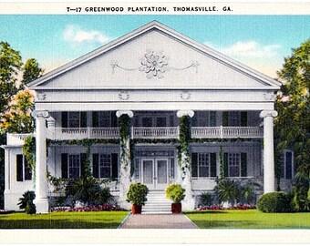 Vintage Georgia Postcard - The Greenwood Plantation, Thomasville (Unused)