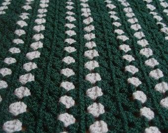 Slytherin Baby Blanket Harry Potter House Blanket Crochet Baby Shower Unisex Blanket Hogwarts