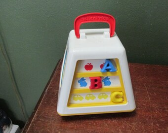 Fisher Price Turn and Learn Toy Baby Busy Box 1988