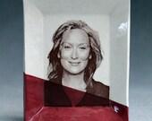 Meryl Streep Decal Ceramic Trinket Dish