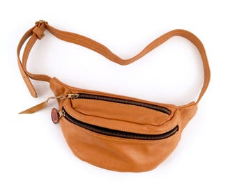 90s butterscotch LEATHER hip pack
