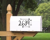 Mailbox Numbers with Arrows Wall Decal, Arrows, Address Numbers, Mailbox Decal, Home Addres Decal, Vinyl Decals