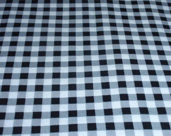 """Skelanimals Black and White Checks Novelty Fabric  100% Cotton 44"""" Wide   Sold by the Half Yard"""