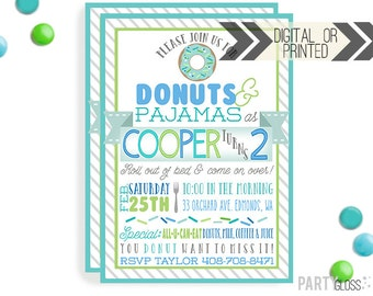 Donut Birthday Invitation - Digital or Printed