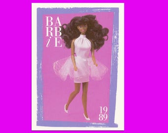 """Barbie Collectible Trading Card - """"Black Expressions Barbie, Woolworth Exclusive"""" -Card No. 268 1989 Barbie collectors, Black Barbie history"""