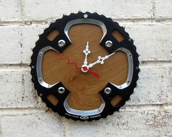 Recycled Shimano Bicycle Chainring Wall Clock