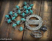 INCREDIBLE Vintage MUSI Rhinestone and Quartz Necklace