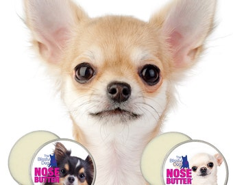 Chihuahua ORIGINAL NOSE BUTTER® Handcrafted All Natural Balm for Dry Crusty Dog Noses Choice of 1 oz, 2 oz or 4 oz Tin with Chihuahua Label