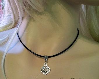 Irish Celtic Knot Weave Choker - Tibitan Silver