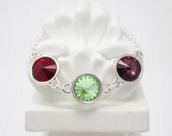 Grandmother's Bracelet Birthstone Crystal Bracelet Choose Your Colors