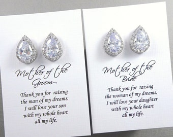 Gift for Mom, Wedding Earrings, Mother of the Groom Gift Earrings, Mother of the Bride Gift Earrings, Wedding Earring, Bridal Earrings
