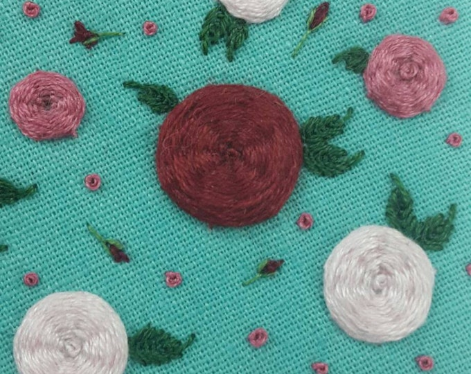 Handmade Rose Flower Embroidery