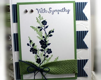 Stampin' Up With Sympathy Card