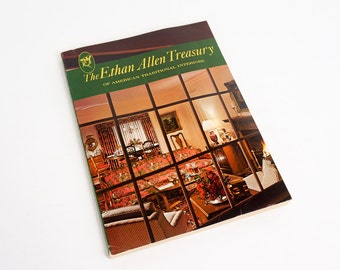 Vintage 1970s Furniture Catalog / Ethan Allen Treasury of American Traditional Interiors Pb / Late 60s Early 70s Early American Home Decor