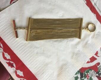 Vintage Ellen Tracy Multi Strand Shimmering Wide Chunky Bracelet