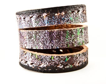 Leather Jewelry Cuff Wristband Bracelets for Women