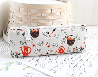 Cute Gardening Pencil Case Garden Pencil Pouch Watering Can Pencil Case Purse Organizer