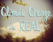 Climate Change is Real Postcard*Download*