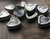 Vintage Aluminum Heart Molds - Set of 10