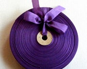 Vintage 1930's-40's French Woven Ribbon -Milliners Stock- 5/8 inch Violet